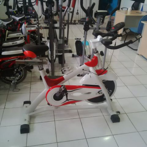 ... Sepeda Fitnes Total Spinning Bike Olahraga Bkn Xbike Shaga-spinning