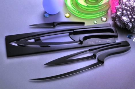 Pisau Dapur Serbaguna Magnet S2 Stainless Kinfe Set 4 Pcs Holder Detikforum