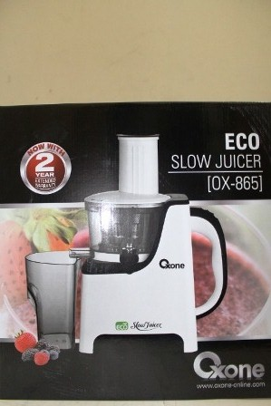 Oxone Eco Slow Juicer Ox 865 Review : Laris OX 865 Oxone Eco Slow Speed Juicer Blender Buah Menjaga Nutrisi Minuman Philips