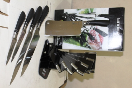 OX 981 Butterfly Knife Set Baja Oxone Pisau Dapur Anti ...