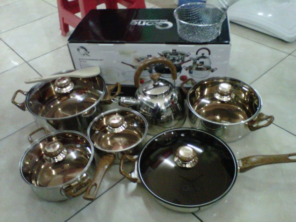 Panci Masak Stainles Steel Ox 933 Eco Cooware Set Oxone