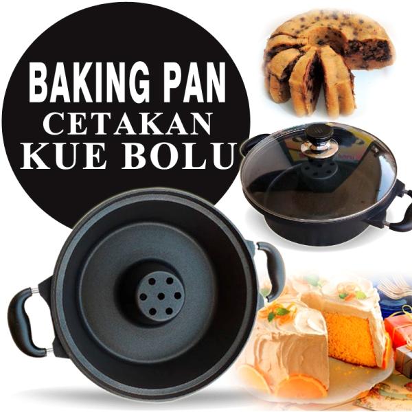 Teflon Loyang Bolu Baking Pan 28cm Cetakan Kue Bolu