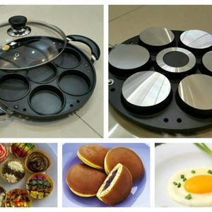 Cetakan Martabak Mini Snack Maker 7 Lubang Teflon Berkualitas Snack maker 7 lubang teflon berkualitas bisa untuk membuat martabak mini, serabi selong, ...