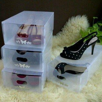 Clear Shoe Box-Kotak Sepatu Transparan