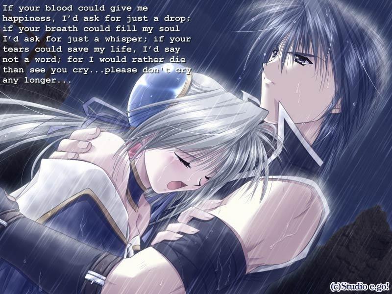 Anime Girl Crying with Boy