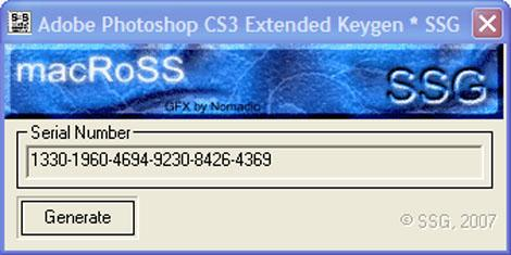 Инструкция для активации adobe photoshop cs3 extended 1) для установки adob