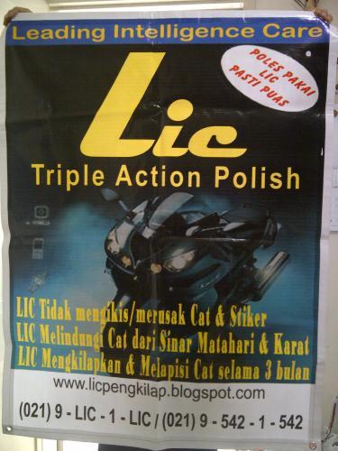 MAHA DAHSYAT KILAPNYA POLES PAKE LIC TRIPLE ACTION POLISH - PIN BB: 2A38 FBC4